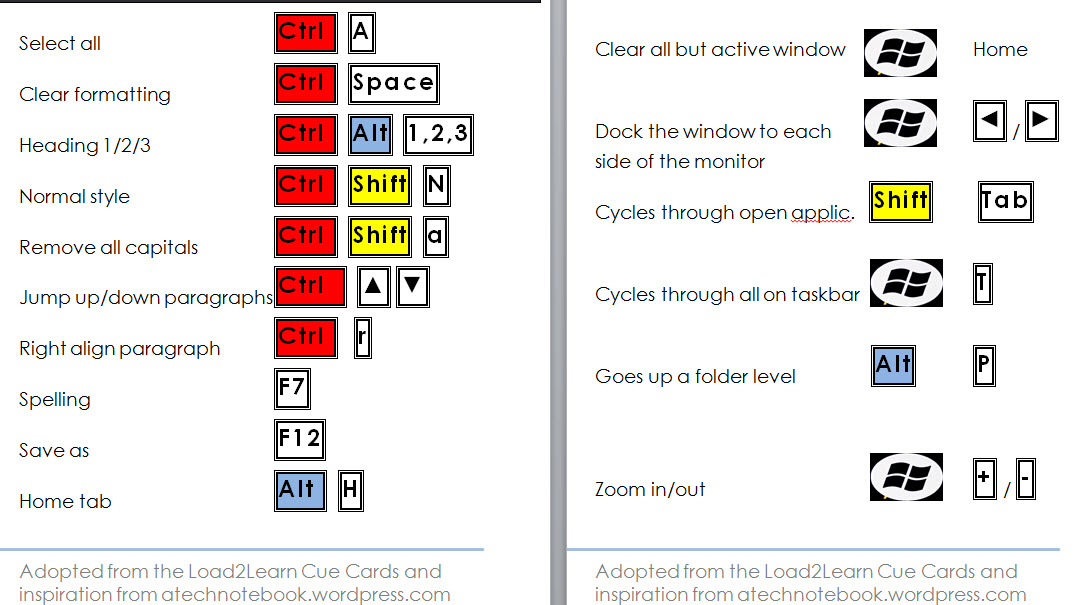 how to make cue cards on word 2013